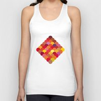 scales Tank Tops featuring Red Scales by Lea.I