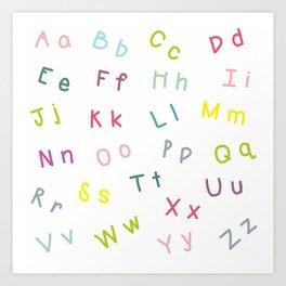 An Alphabet Art Print