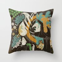 surrealism Throw Pillows featuring surrealism by Judit Varga
