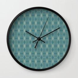 hopscotch-hex navajo Wall Clock