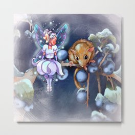 Mouse and Fairy  Metal Print