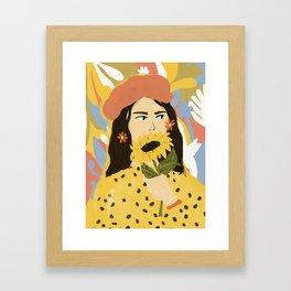 Sunflowers In Your Face Framed Art Print