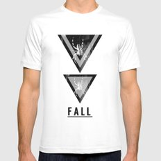 FALL MEDIUM Mens Fitted Tee White