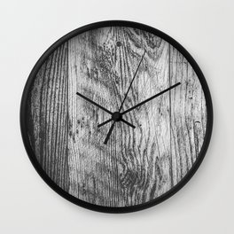 vintage wood texture background in black and white Wall Clock