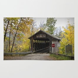 Whites Covered Bridge in Michigan Rug