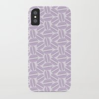 macaroon iPhone & iPod Cases featuring French Pattern - Violet Macaron - Purple Macaroon by French Macaron Art Print and Decor Store
