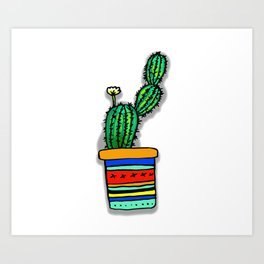 Cactus Drawing Art Print