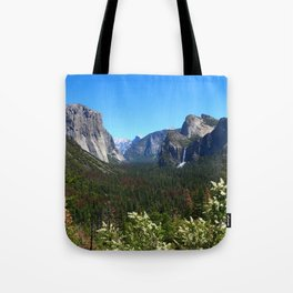 Bridal Veil Falls From Tunnel View Point - Yosemite Valley Tote Bag