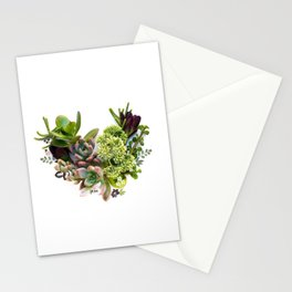 Succulent heart Stationery Cards
