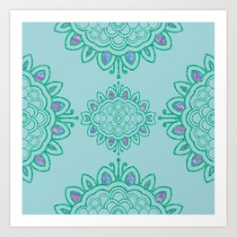 batik mandala Art Print