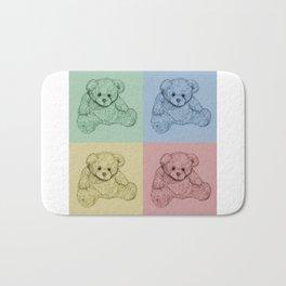 Worhol Style Teddy Bears Bath Mat