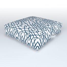 Web Navy Outdoor Floor Cushion