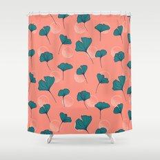 Bright Ginkgo & Dots #society6 #decor #buyart Shower Curtain