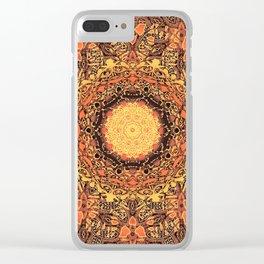 Marigold Mandala Clear iPhone Case