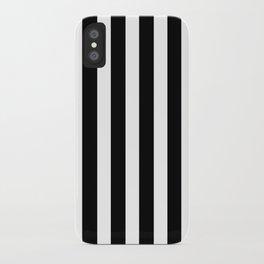 Bold Stripes (Black & White) iPhone Case