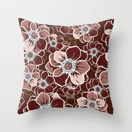 Mandala Flowers 13 Throw Pillow