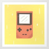 gameboy Art Prints featuring Gameboy by Things and Other Things
