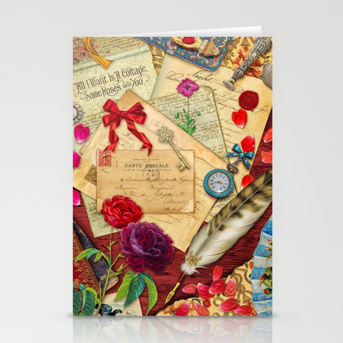 Vintage Love Letters Stationery Cards