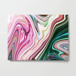 Colorful Marbleized Background Metal Print