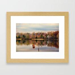 Autumn At Lake LaJoie 3 Framed Art Print