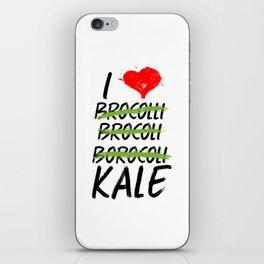 Kale Art for Vegans, Vegetarians n Broccoli Lovers Light iPhone Skin