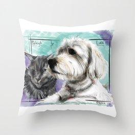 Raleigh & Lula Throw Pillow
