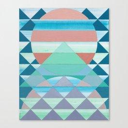 Pyramid Sun Orange Canvas Print