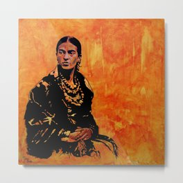 FRIDA KAHLO - the mistress of ARTs - original painting Metal Print