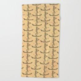 Aldus Manutius Printer Mark Beach Towel