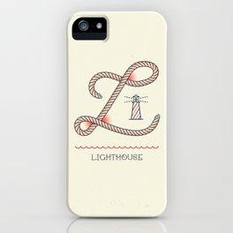 Ahoy! Letter L iPhone Case