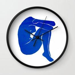 Blue Nude I Wall Clock