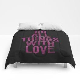 PINK Quote Comforters