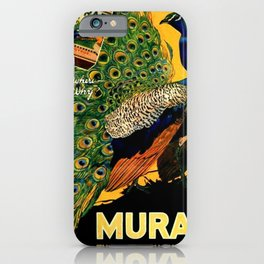 Vintage 1915 Turkish Cigarette Murad Peacock Lithograph Advertisement iPhone Case