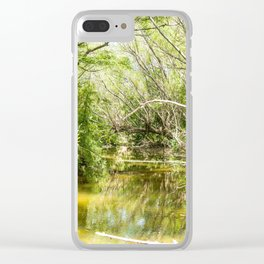 River bend Sauce Viejo Clear iPhone Case