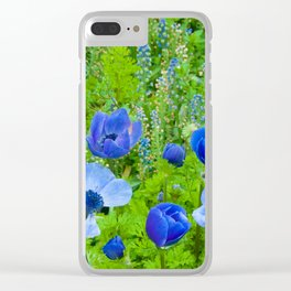 Spring Blues Clear iPhone Case