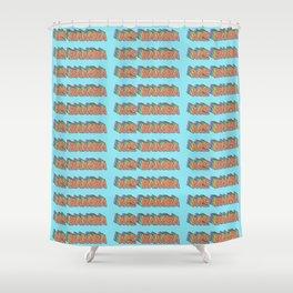 MO BAMBA - Print and Wall Paper Pattern Pop Art Shower Curtain