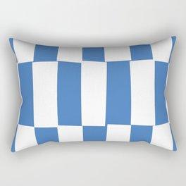 Modern royal blue and white trendy checker pattern Rectangular Pillow