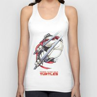 tmnt Tank Tops featuring TMNT by Linartist
