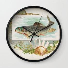 Vintage Atlantic Mullet Fish (1889) Wall Clock