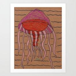 Lion's Mane Jelly Art Print