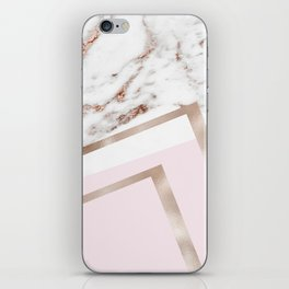Geometric marble - luxe rose gold edition I iPhone Skin