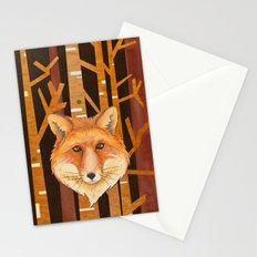Fox Wild animal in the forest- abstract artwork #Society6 Stationery Cards