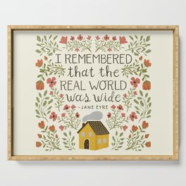 """Jane Eyre """"World Was Wide"""" Quote Serving Tray"""