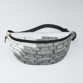 Brick Wall Grayscale Fanny Pack