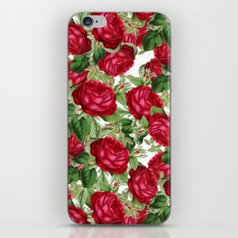 Crimson Rose Bower iPhone Skin