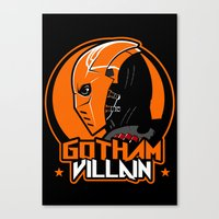 deathstroke Canvas Prints featuring Villain v2 by Buby87