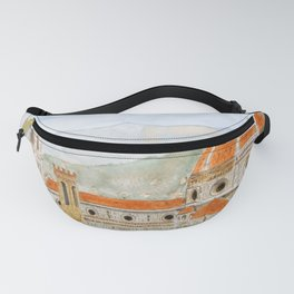 Italy Florence Cathedral Duomo watercolor painting Fanny Pack