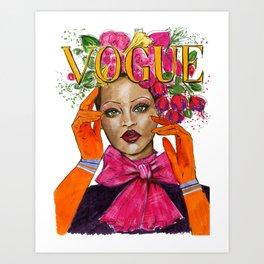 VogueRihanna Art Print