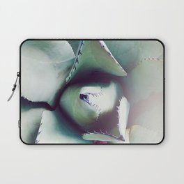 Succulent Love - Agave Green Gray Laptop Sleeve