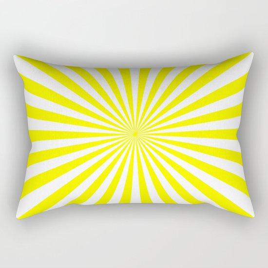 Starburst (Yellow/White) Rectangular Pillow